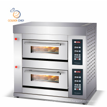 gas digital panel 2 decks 2 trays 6 trays cake baking oven gas pizza oven commercial bakery gas oven