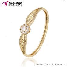 Moda 14k ouro cor elegante zirconia cúbico bracelete