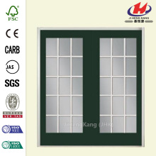 Prehung Patio Door with Brickmold Vinyl Frame