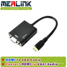 HDMI a VGA + cable de audio de 3,5 mm