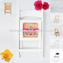 Mobília do casamento cadeira resistiva acrílica dobrável branca