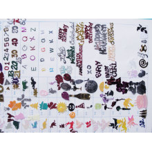 Farbe Confetti und Design Diagramm DSC02295