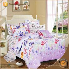 100% algodão Corantes reativos impresso conjunto de cama bordada