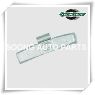 Acier / Fe Clip sur Wheel Poids d'équilibrage pour roue en acier (camion) Clip gap 5.2mm
