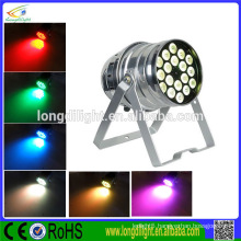 led flat par can 18pcs Christmas party dj light 18x3w rgb led par light 54w led flat par