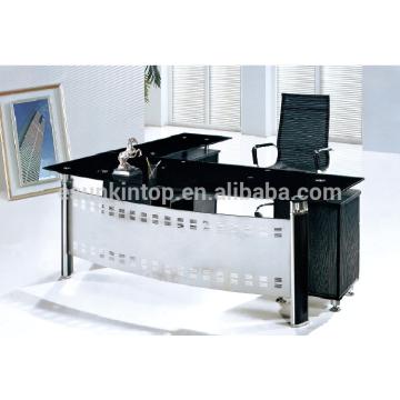 2015 neues Design Glas Büro Tisch mit L-Form Büro Tisch