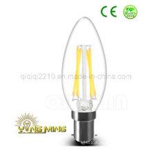Bulbo Dimmable do Filamento do diodo emissor de luz de C35 B15 3.5W