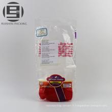 Sacs plats en plastique recyclables bon marché pour des biscuits