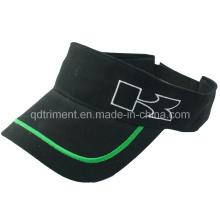 Clásico de algodón de sarga bordado golf dom visor de deporte (trav037)