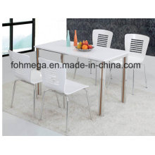 Restaurant High Glossy Table Chair Set (FOH-BC32A)