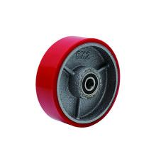 PU robuste sur roues simples en fer