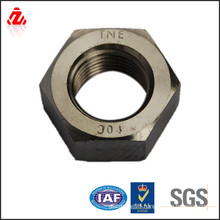 Carbon steel black oxide heavy hex nut(din934)