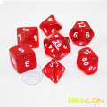 Red Color Translucent 7pcs RPG Polyhedral Dice Set