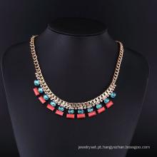 Moda América Handmade Crystal Gold Necklace Set