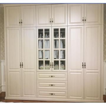 Customized European Style PVC Vacuum Wardrobe Closet (MOQ= 1 SET)