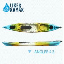 4,3 m de longitud único asiento sentarse en la cima de pesca Kayak de viajes