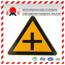 PET/PVC foto luminiscente película reflectante para señalización de advertencia (FG301)