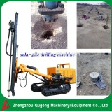 fast working efficiency portable crawler solar pile driver for sale