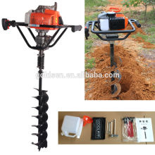 68cc 2200w Hand-Held Manual de la máquina de perforación del suelo Taladro de agujero de tierra de mano portátil Earth Auger