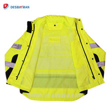 ANSU 107 And ANSI 107 custom high visibility adult raincoat jackets with Inside Pocket