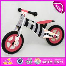 2014 nouvelle bicyclette en bois pour enfants, belle conception en bois vélo jouet pour enfants, vente chaude en bois jouet bicyclette pour bébé usine W16c074