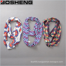 Women Fashion and Beauty Printed Scarf Long Soft Infinity Scarf
