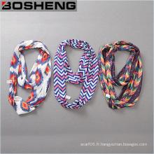 Écharpe imprimée à la mode et à la beauté féminine Écharpe longue et douce à l'infini