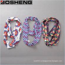 Мода и красота женщин печатных шарф длинный мягкий шарф бесконечности