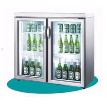 Double Glass Door Beer Cold Drink Display Cooler