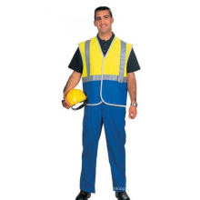 High Visibility Safety Coverall Made of Oxford Fabric
