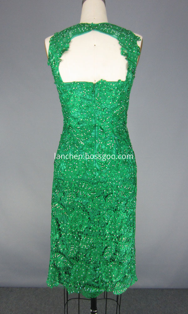 Sleeveless Beaded Prom Gown