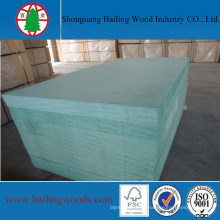 12mm Green Waterproof Raw MDF for Kitchen Cabinet