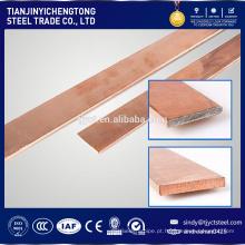 Barra lisa laminada a alta temperatura CK45 com revestimento de cobre