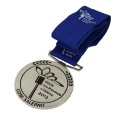 Custom Competition Antique Gold Medals With Ribbon