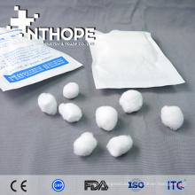 productos estériles médicos mini bola de algodón dental y soporte para hisopos