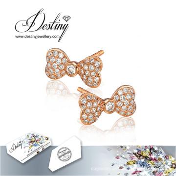 Destino los cristales de la joyería de Swarovski pendientes pendientes de la mariposa