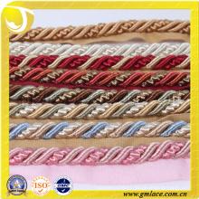 Poliéster cuerda decorativa para cojín decoración sofá decoración sala de estar cama habitación