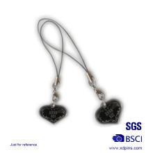 Correa de metal en forma de corazón de teléfono de pareja para regalo de amante (kc-20)
