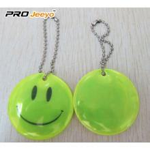 Reflective Safety Smile Face Key Chain for Gifts