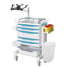 Estação de trabalho móvel da enfermeira com suporte para laptop