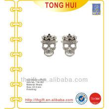 Novidade de abobulhar de metal de prata com forma de crânio de classe alta para presentes de promoção