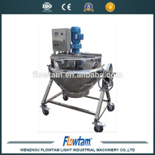 Zhejiang Sanitary food grade electric steam jacketed kettle tilting