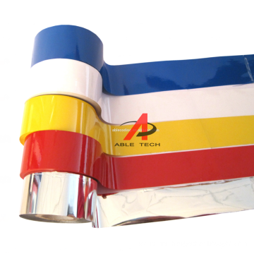 Hot coding ribbon white color hot stamping foil used on ribbon coding machine