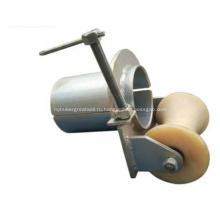 Раструб с роликом подачи ролика трубопровода