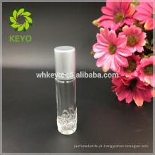 8ml 10ml 15ml transparente rolo bola garrafa óleo essencial perfume frascos de vidro com tampa de rosca