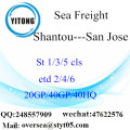 Shantou Port Sea Freight Shipping para San Jose