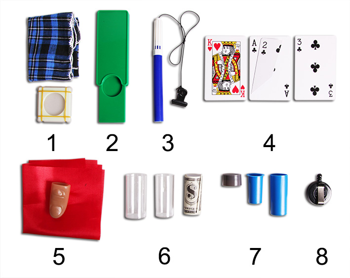 Magic Tricks Set components