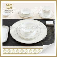 Bone china silver rim saudi arabia market best dinner set