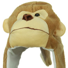 Monkey animal hat plush winter hat