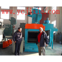 Q326c Tracked Rubber Belt Wheel Abrator / Shot Blast Cleaning Machine
